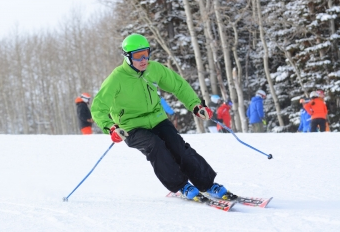 Skiing at USSA Level 100 clinic, December 2015
